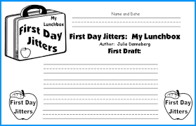 Small Picture First Day Jitters Lesson Plans Author Julie Danneberg