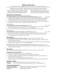 Chemistry Resume Proyectoportal Com