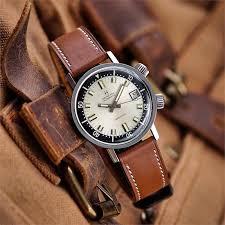 whiskey barenia calf leather watch band