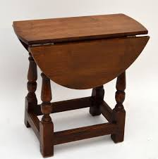 Small Antique Solid Oak Drop Leaf Occasional Table Marylebone