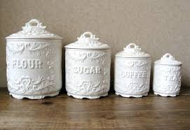 antique kitchen canisters metal