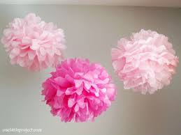 Paper Puff Ball Decorations How to Make Tissue Paper Pom Poms an easy step by step tutorial 1