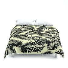 palm leaf bedding palm frond tropical leaf pattern black on yellow comforters palm leaf bedding sets