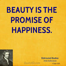 Beauty Is The Promise Of Happiness Quote Best of Edmund Burke Happiness Quotes QuoteHD