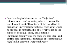 cosmopolitanism and justice simon caney the world is  bentham begins his essay on the objects of international law by asking what a citizen of