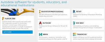 autodesk student landing page