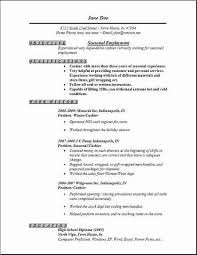 Sample Employment Resume Seasonal Employment Resume Job Resume Template Job Resume