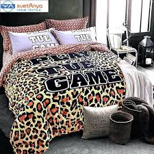 um image for svetanya wild fashion leopard print bedding set thick soft sanding cotton linens winter