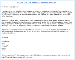 character letter of recommendation for a job nursing reference recommendation letters 9 samples