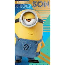 Despicable Me 3 Minion Son Birthday Card Danilo