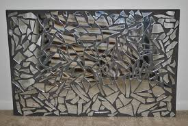 Broken Mirror Wall Art Ideas Mosaic Mirror Wall Decor Doherty House