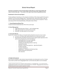 Teacher Curriculum Template School Annual Report For Teaching And Learning Curriculum