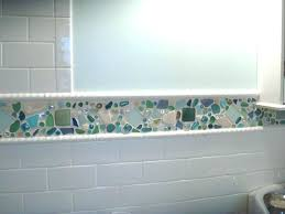 kitchen wall glass tiles glass tile bathroom ideas astounding kitchen and bathroom decoration with beach glass