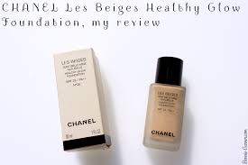 chanel foundation. chanel les beiges healthy glow foundation, my review chanel foundation