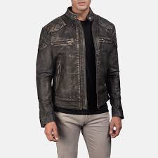 men sgatsby distressed brown leather jacket 1