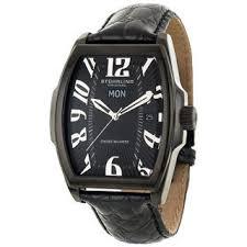 clearance watches overstock com the best prices on designer stuhrling original men s waldorf swiss quartz black watch