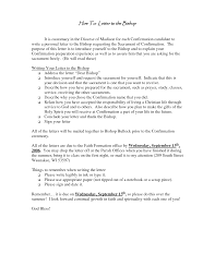 Examples Of Catholic Church Confirmation Letter