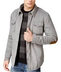 American Rag Mens Elbow Patch Shirt Jacket