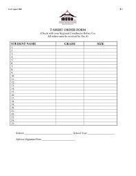 Forms For Word Blank Tshirt order form Template Cheapweddingdecorationsideasco 94