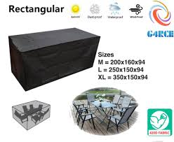 outdoor furniture cover 6 seater heavy duty garden patio rectangular table cover