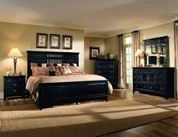bedroom with black furniture. THE FURNITURE Black Rubbed Finished Bedroom Set With Panel Bed Furniture