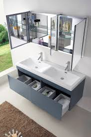 55 inch double vanity new abodo 55 inch modern double sink bathroom vanity in grey finish