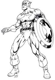 Small Picture Captain America Coloring Pages for Kids Free Printable Captain