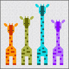 Giraffes in a Row Quilt Pattern PDF Instant Download modern ... & Giraffes in a Row Quilt Pattern PDF Instant Download modern Adamdwight.com