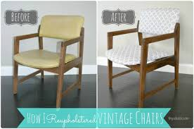 vintage chair before and after