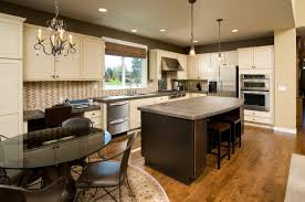 off white cabinets dark floors. Modren Floors The Slate Grey Of These Countertops Is A Lovely Addition To This Kitchen  And Balances The Inside Off White Cabinets Dark Floors C