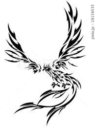不死鳥 フェニックス 火の鳥 イラストのイラスト素材 Pixta