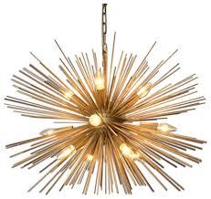 gold sputnik chandelier. Emme Starburst 12 Light, Brushed Gold Sputnik Chandelier E