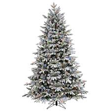 Pre Lit Christmas Tree With Colored And White Lights Ge 7 5 Ft Pre Lit Alaskan Pine Full Flocked Artificial