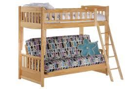 Cinnamon Twin Full Kids Wood Futon Bunk Sofa Bed Maple | The Futon ...