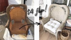 diy whitewash wicker chair patio