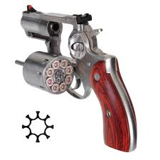ruger redhawk 357 magnum revolver 2 75 stainless steel barrel 8 round capacity hardwood grip