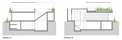 Two Floor Architecture Plan of House Architecture Two Storey House    Casa P By Martin Dulanto Architect The Beach House Section A And B Plan Design Ideas Two Flooor House Architecture Design Froom The Facade And Back Side