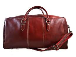 duffle bag genuine leather red shoulder bag mens las travel bag gym bag luggage made in italy red weekender duffle overnight