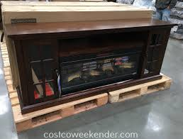 complete the look of your entertainment system with the tresanti chimneyfree infrared fireplace and a mantel