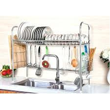 wall mount dish drying rack dish drying rack stainless steel dish storage with chopstick holder wall