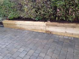 retaining wall timber sleepers with monoblocked driveway ace paving ltd