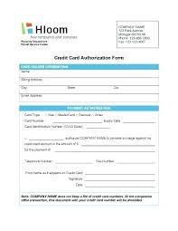 Credit Card Form Template Excel Simple Authorization Information ...