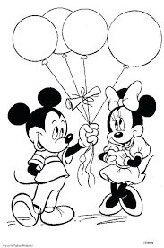 Mickey Mouse Clubhouse Printable Coloring Pages Page Birthda