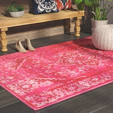 endearing pink area rug with mistana decker pink area rug reviews wayfair