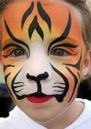 cute tiger face paint