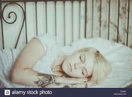 Of sleeping blonde teen