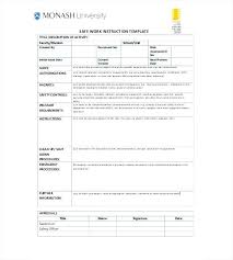 Writing Instructions Template Free Sop Templates Writing Work Instructions Template For Flyers In