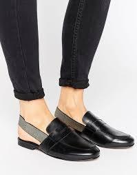 black leather mules asos myrtle leather slingback flat mules