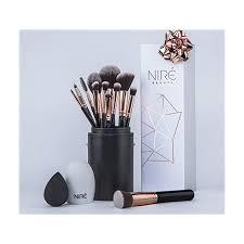 makeup amazon niré beauty makeup brush set with brush case beauty blender cleaner