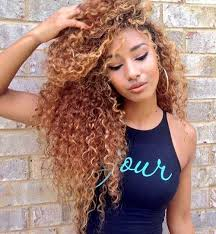 long natural curly hairstyle
